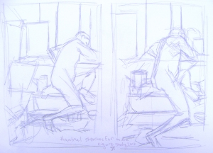 Sketches for Figure Study Painting, 2012