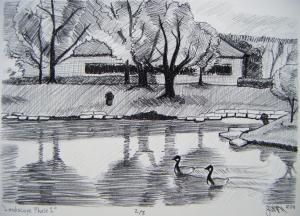 Kettering Landscape, lithograph, 2011.
