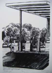 'Private Gas', lithograph, 2011.