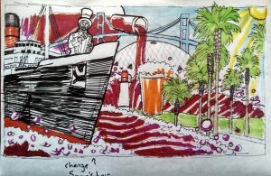 LBC Public Mural Sketch - Julia Trimboli