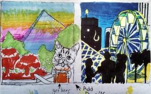 LBC Public Mural Sketch 2 - Julia Trimboli