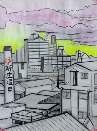 Sunset factory, Japan 2015