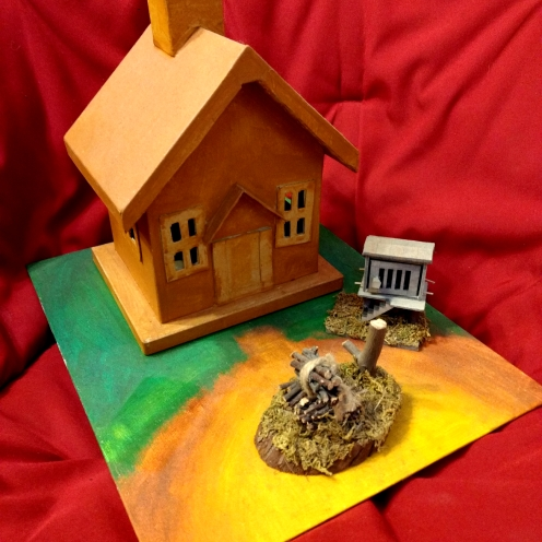Cabin in the woods diorama